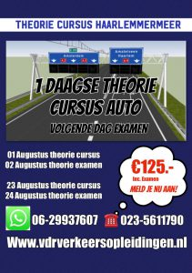 1 daagse theoriecursus auto